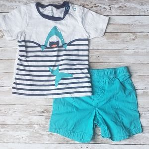 Carters Baby Boy Outfit with Shark